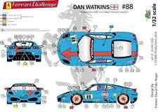 "[FFSMC Productions] Decals 1/32 Ferrari F-430 Challenge ""Gulf"" de Don Watkins"