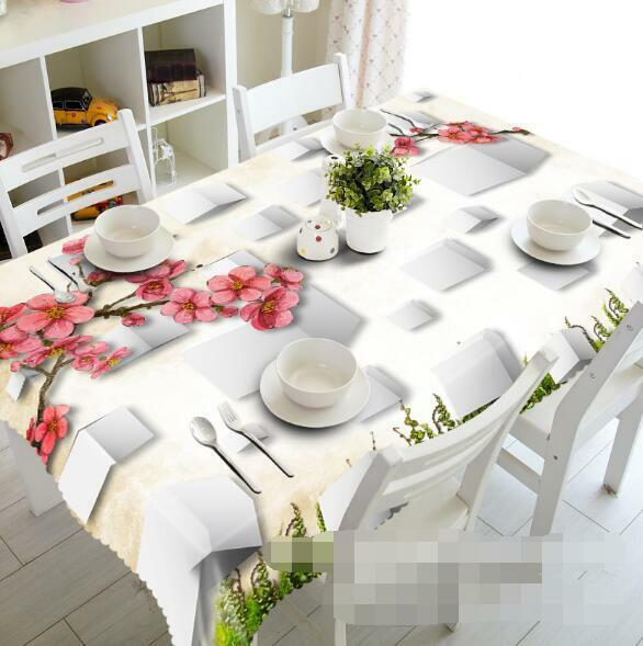 3D Peach Flower 1 Tablecloth Table Cover Cloth Birthday Party Event AJ WALLPAPER