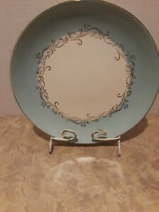 Lifetime-China-Co-Semi-Vitreous-Gold-Crown-Plate-with-Blue-amp-Gold-Alliance-Ohio