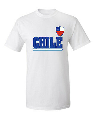 Chile Soccer Jersey T shirt Flag Pride Flag World Cup 100 /% cotton