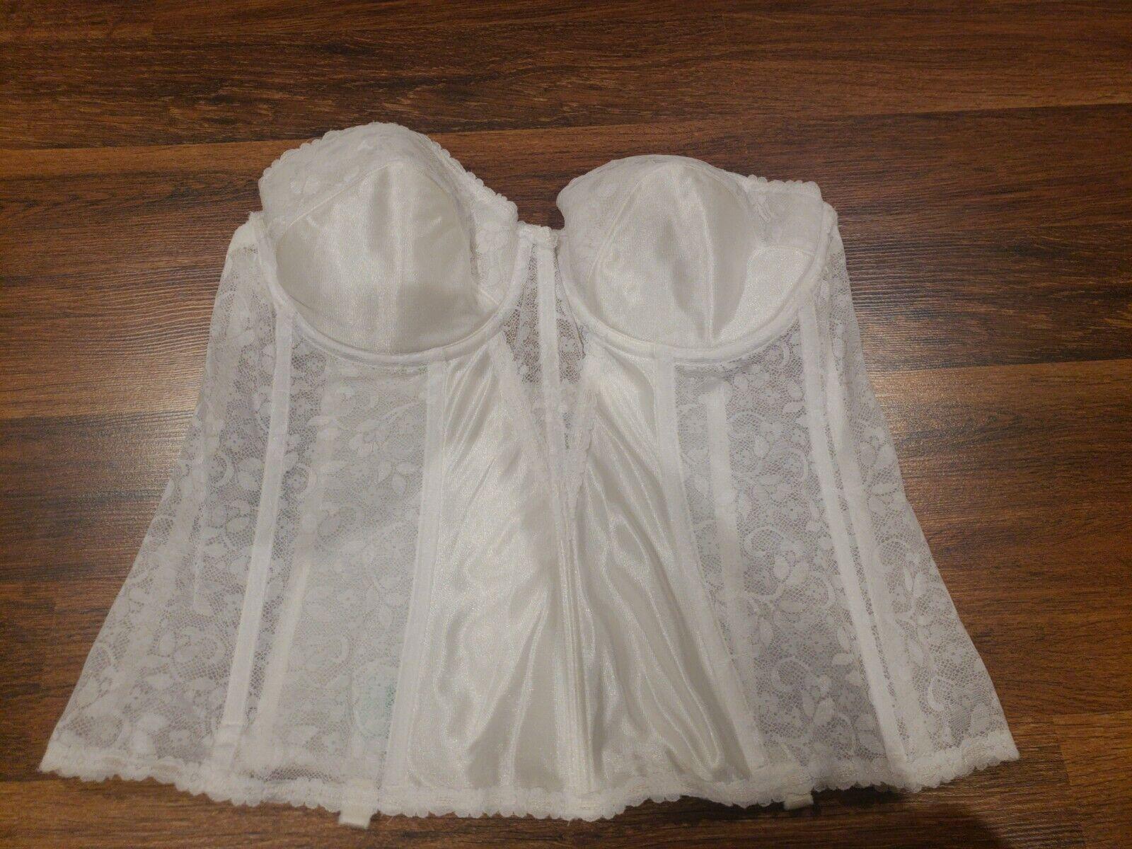 Vintage Carnival Corset Lace White Size 42B - image 2