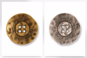 G4353-M Impex 4 Hole Distressed Metal Buttons