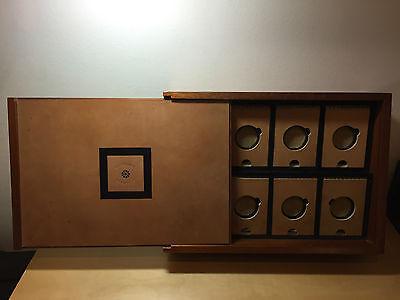 Devoted Vintage Boîte Scatola Giuliano Mazzuoli Pour 8x Montres ManomÈtre Bois