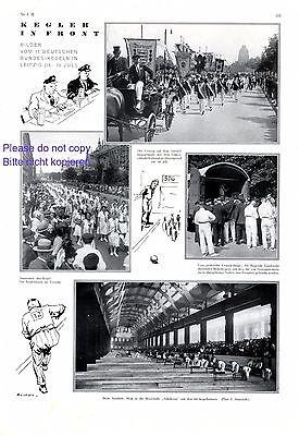 Bundeskegeln Leipzig Kegeln Bowling Sonstige Diszipliniert Kegelsport 1929 Xl Seite Mit 7 Abb Bowling & Kegeln