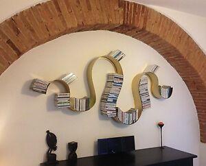 Libreria porta cd dvd design ferro . realizzazioni personalizzate