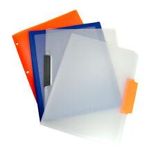 4 Assorted Plastic Portfolio Office File Folders Letter Size Document Organizers