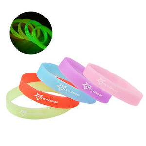 RockBros Cycling Summer Luminous Silicone Rubber Wristband Sports Bracelets New