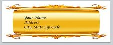 30 Gold Scroll Personalized Return Address Labels Buy 3 get 1 free (bo 84)