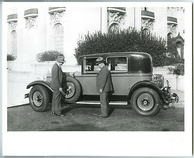 "1929 PACKARD MOTOR CAR 4-DOOR CLUB SEDAN AUTOMOBILE~8x10"" GLOSSY B ..."