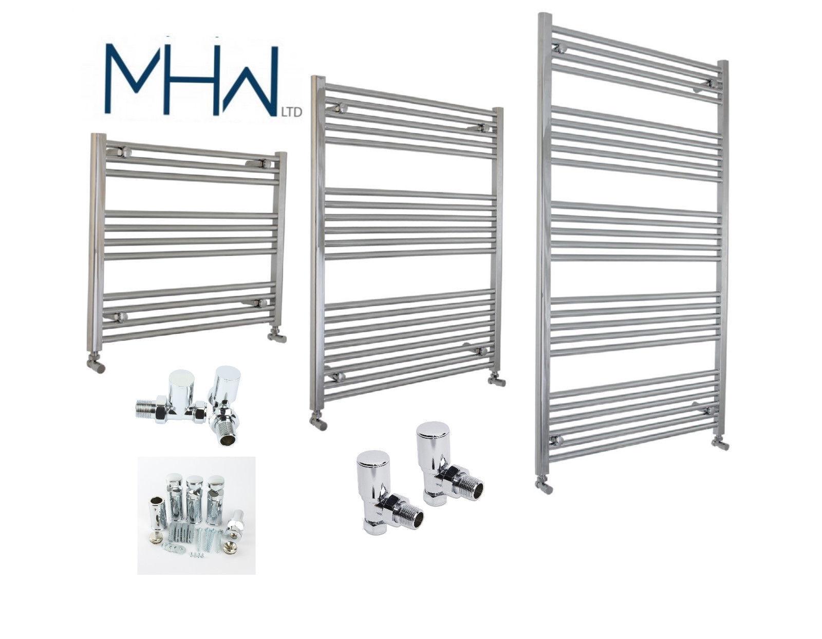 650 mm Large Plat Chrome Sèche-Serviettes Radiateur Salle de bains Designer Radiateur