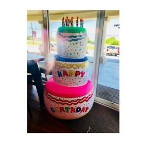 Pleasant Inflatable Happy Birthday Cake Jumbo Large Kids Adults Party Birthday Cards Printable Inklcafe Filternl