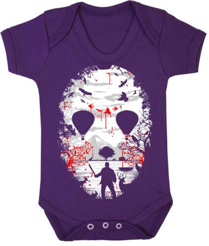 Niños Bebé Crecer Traje Crystal Lake mástil Jason película de terror Chicos Chicas alternativa