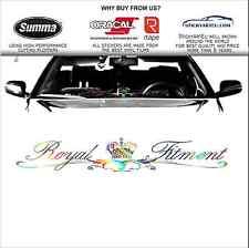 90cm ROYAL fitment oil slick neochrome stance windscreen car JDM decal sticker