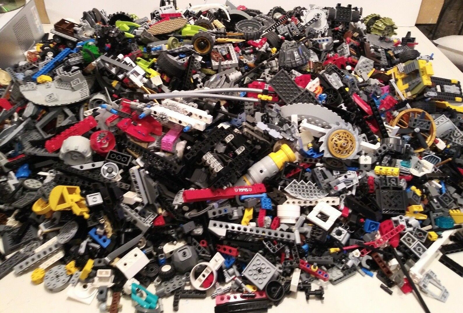 Bulk Lot of LEGO Technic Beams Lift Arms Pins Wheels Specialty - By the Pound