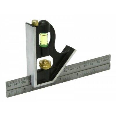 "Rolson 150mm 6/"" Inch Adjustable Sliding Metal Engineers Combination Square Set"