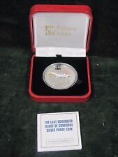 2009 Isle of Man Silver Last Flight of the Concorde Proof - LIMITED EDITION
