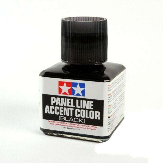 Tamiya USA TAM87131 Black Panel Line Accent Color 40ml