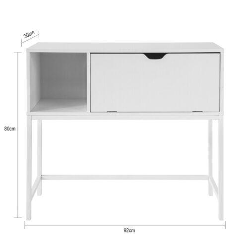 SoBuy Konsolentisch Beistelltisch Flurtisch mit 1 Klappe Sideboard Weiß FSB21-W