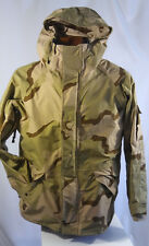 US Army ECWCS Desert Camo Gore-Tex Cold Weather rain Coat parka Jacket Large