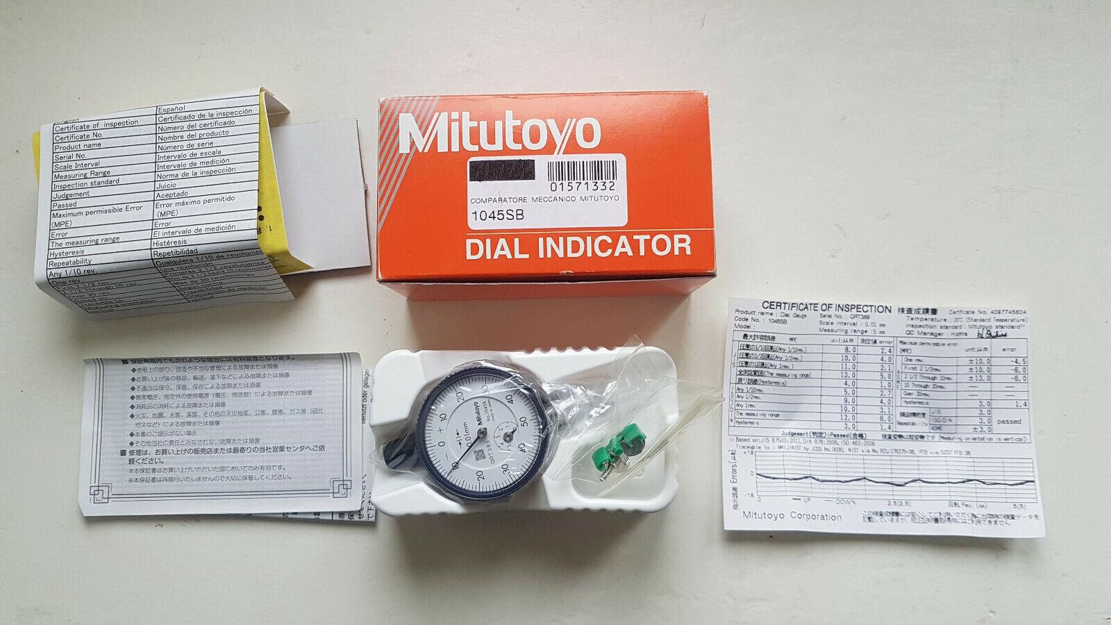 Lot of 6 MITUTOYO 1045SB  nuovi 6 pezzi  comparatore strumento misura meccanica