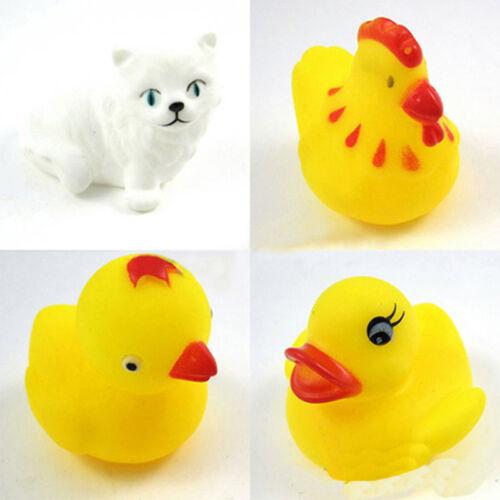 13Pcs Soft Rubber Float Sqeeze Sound Baby Wash Bath Play Animals Baby Toys PLF