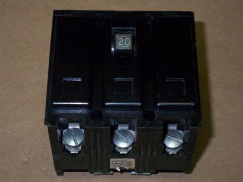 WESTINGHOUSE HQNP3020 HQNP-3020  3 POLE 20 AMP CIRCUIT BREAKER