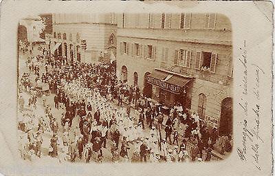 #ROMA - 1908- VIA 4 NOVEMBRE- PASSAGGIO DEI RICREATORI- fotocart. privata