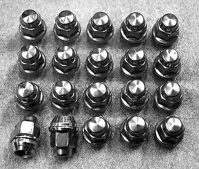 "23PC Spike Spline Chrome Steel Lug Nuts 1//2/"" x 20Jeep Wrangler"