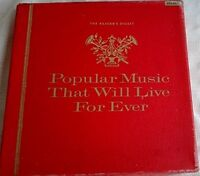 READERS DIGEST - POPULAR MUSIC THAT WILL LIVE FOREVER - 12 LP VINYL BOX SET 1961