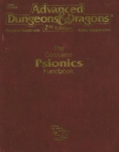 Details about AD&D The Complete Psionics Handbook VF! Dungeons & Dragons  PHBR5 D&D 2117