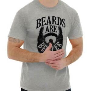 Mens BEARD T-Shirt Bearded Men Make Better Everything Hipster Funny Movember