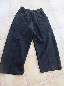 pantalon-oversize-ELEMENTE-CLEMENTE-Oska-neuf-100-LAINE-BOUILLIE-noir-T-3