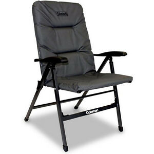 Coleman Pioneer Chair 8 Position Steel Reclining Camping Picnic Model