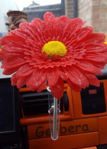 VW Fleur Large 15 cm Rouge Pour votre tableau de bord Shimmer Gerbera Beetle