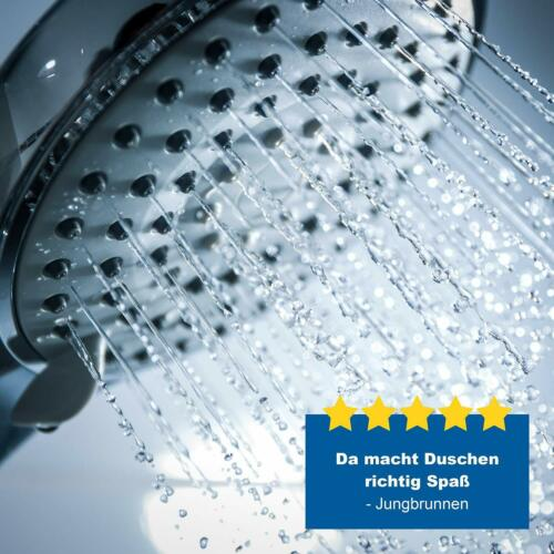 Valneo Chrome Shower Head 5 Jet Types Multi Function Shower Head Water Saving