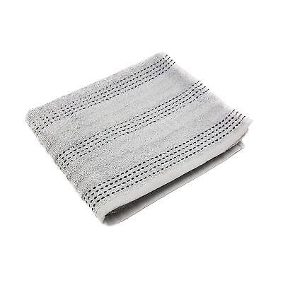 3 Stück Set Luxus Gestreift 100% Gekämmte Baumwolle Silber Schwarz Handtuch Badzubehör & -textilien