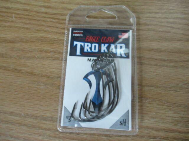 5 New Packs Trokar 5//0 EWG Worm Fish Hooks