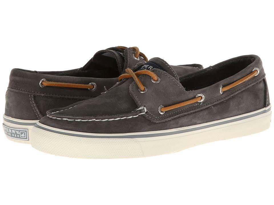 SPERRY Boat TopSider Bahama 2-eye Washable Graphite Leather Boat SPERRY Shoes NIB Wmns 8.5m e4b633