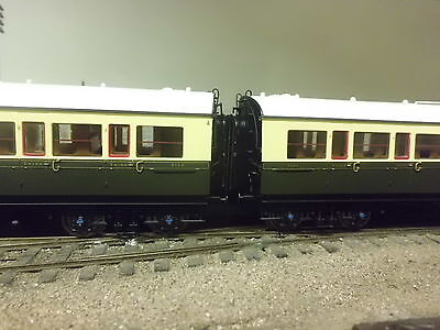 hornby new collett gwr br close coupled bellows corridor connectors x8 oo p4