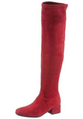 Overkneestiefel 36,37,38 rot Gr aus Textil in Velourslederoptik Tamaris