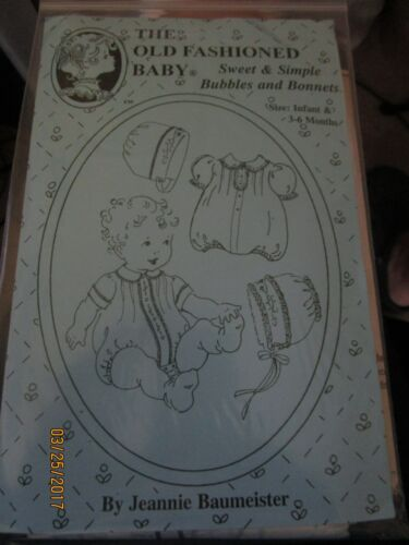 SWEET /& SIMPLE BUBBLES /& BONNETS OLD FASHIONED BABY 3-6 MO NEW Sz INFANT