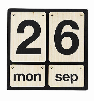 House Doctor Kalender Lightyear Holz ewiger Dauerkalender eternity   B-WARE