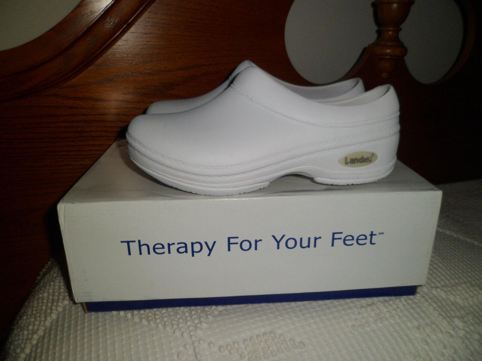 New Landau Weiß FootwearX Nurse Nursing Comfort Weiß Landau Clogs Größe 5 in W Größe 3 in M 199088