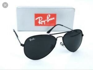 d70a88a583 Ray-Ban RB3026 Unisex Aviator Sunglasses with Black Frame and Black ...