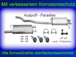 Abgasanlage Auspuffanlage für VW T5  2.5 TDi 96 - 128KW Multivan (SWB) +Anbaukit
