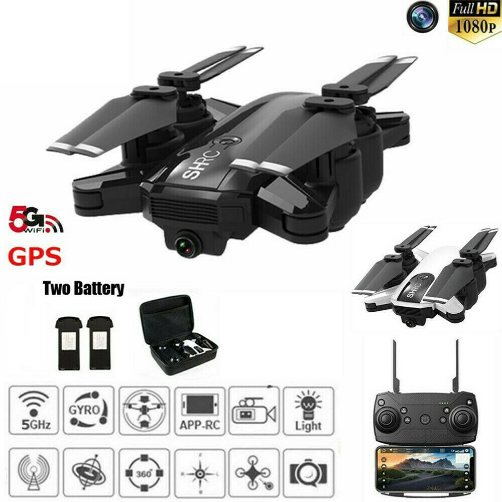DRHONE  X PRO 5g WIFI FPV GPS 1080p HD Fototelecamera RC Quadcopter Drone + 2 batterie  molte sorprese