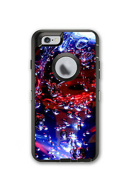 Skin Decal Wrap for OtterBox Defender Case Iphone 6/6S Water Liquid Light Glow