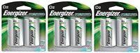 Energizer Nh50bp-2 Rechargeable D Nimh Batteries (3 Packs Of 2 = 6 Batteries) on sale