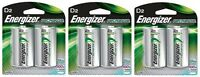 Energizer Nh50bp-2 Rechargeable D Nimh Batteries (3 Packs Of 2 = 6 Batteries) on sale