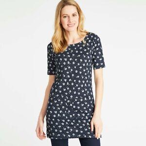 2c07b69160f Ladies Women's LAURA ASHLEY Navy/White Floral Tunic Jersey Dress ...